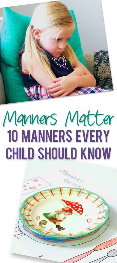 ashley Manners Matter 10 Manners Every Child Should Know pinterest