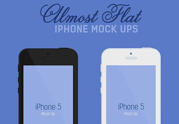 Black or White iPhone 5 Flat Mockups Set PSD - http://www.welovesolo.com/black-or-white-iphone-5-flat-mockups-set-psd/