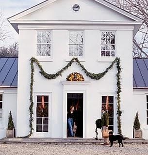 Door and window trim accented with living garland. Simply beautiful. http://www.wholesalemillwork.com/pages/DOORSnWINDOWS.html
