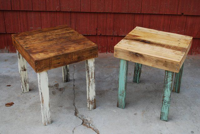 pallet side tables - Google Search                                                                                                                                                                                 More