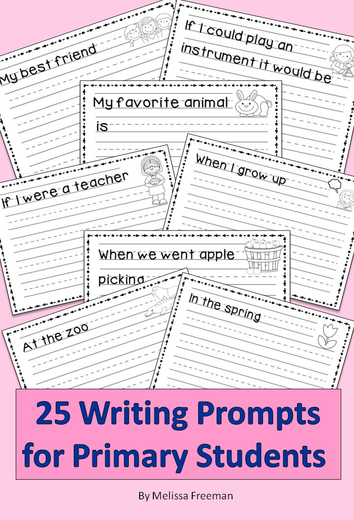 25 prompts to get your students writing!