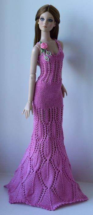 inspiracion vestido largo crochet barbie, pullip