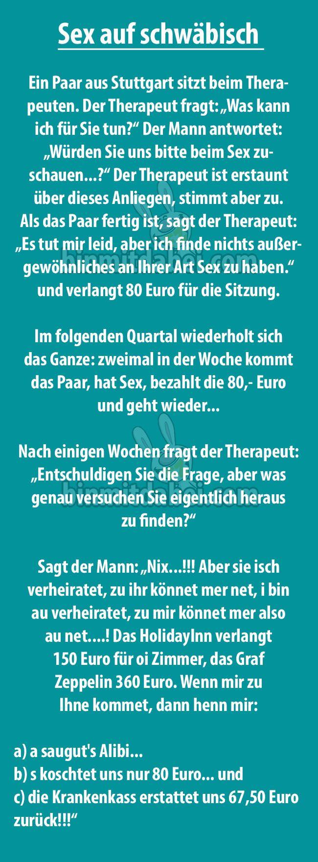 Ein Paar aus Stuttgart geht regelmäßig zum Therapeuten, um vor ihm Sex zu haben. Warum die Beiden das machen und welche Vorteile es mit sich bringt, erklärt uns der Schwabe.