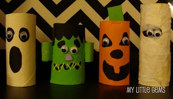 Preschool Crafts for Kids*: Halloween Characters Toilet Roll Crafts