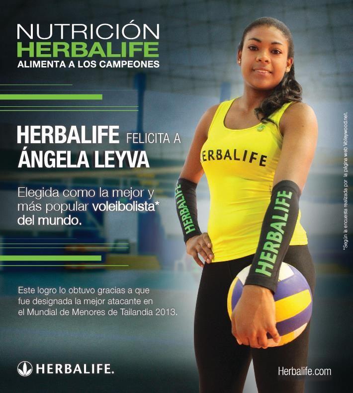 Un éxito mas. Angela Leyva nombrada mejor jugador de Voleibol del mundo! Una deportista del #TeamHerbalife.  #Herbalife