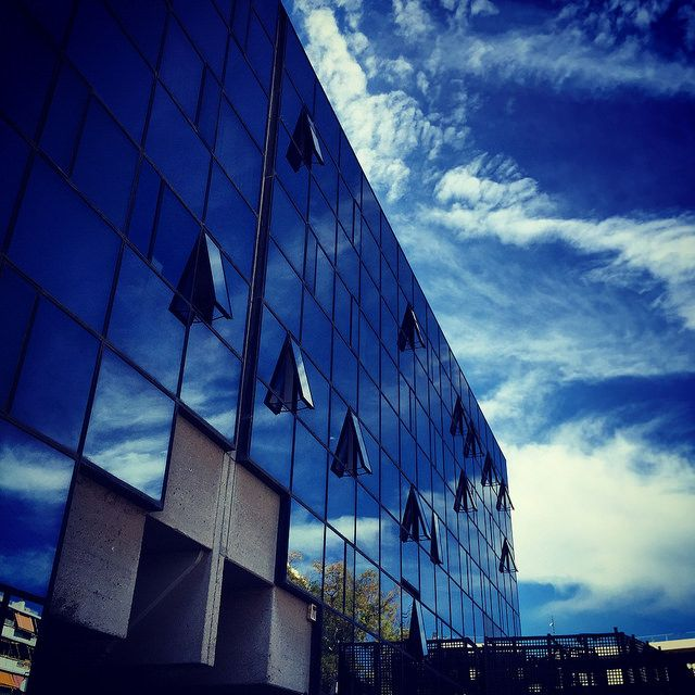 #building #window #reflection #sky #iPhone | by Tryfon Tobias Pliatsikouris