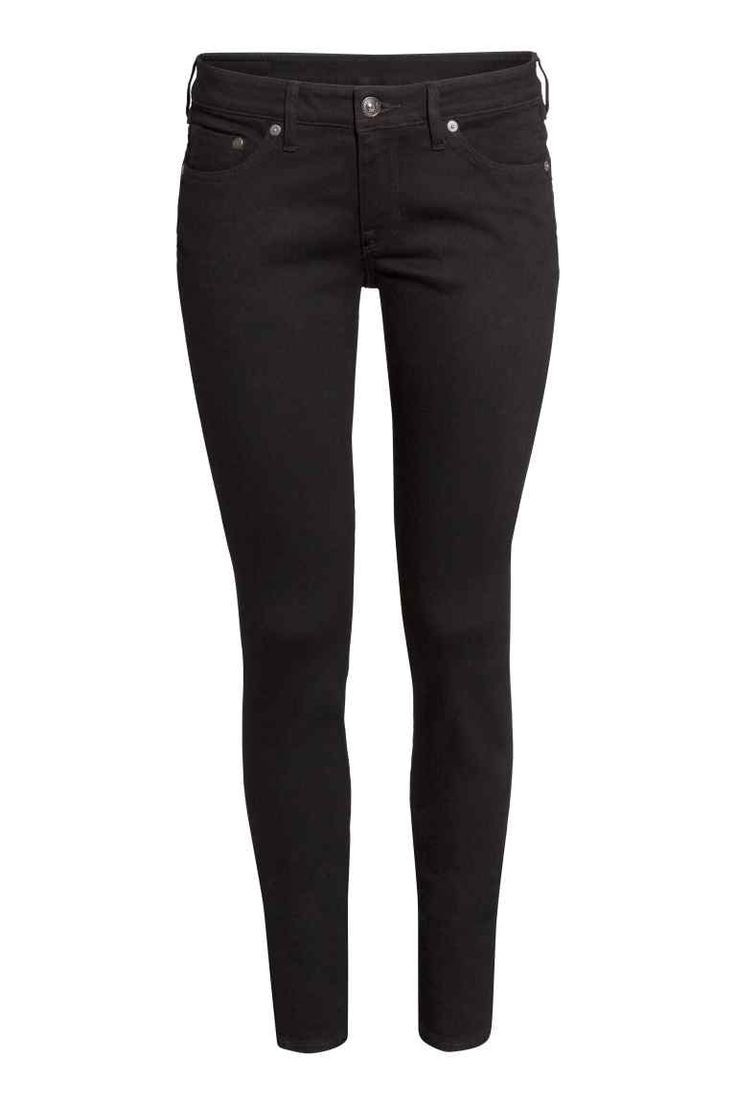 Super Skinny Low Jeans: 5-pocket low-rise jeans in washed superstretch denim with ultra-slim legs. The jeans are made partly from recycled polyester.