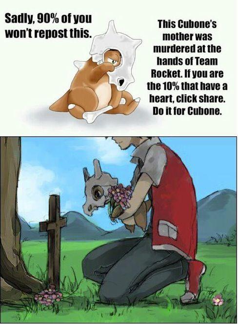 Poor cubone..