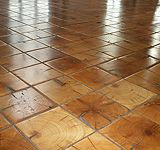 """""""End-grain"""" wood flooring- might be the answer for my kitchen floor...!"""