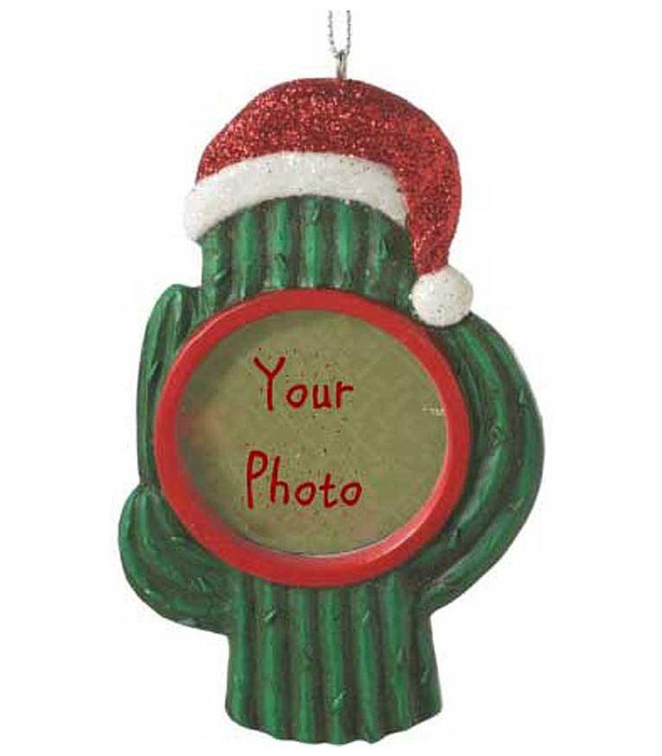 Cactus Santa Frame Southwestern Christmas Ornament- Saguaro Smile