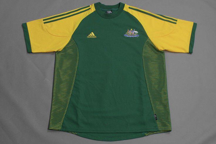 ADIDAS AUSTRALIA FOOTBALL SOCCER  SHIRT JERSEY TRIKOT 2002 2003 2004 LARGE PERFE #adidas #Australia