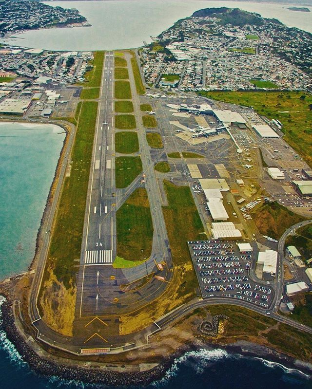 Wellington Airport runway #wellington #newzealand #wellingtonairport
