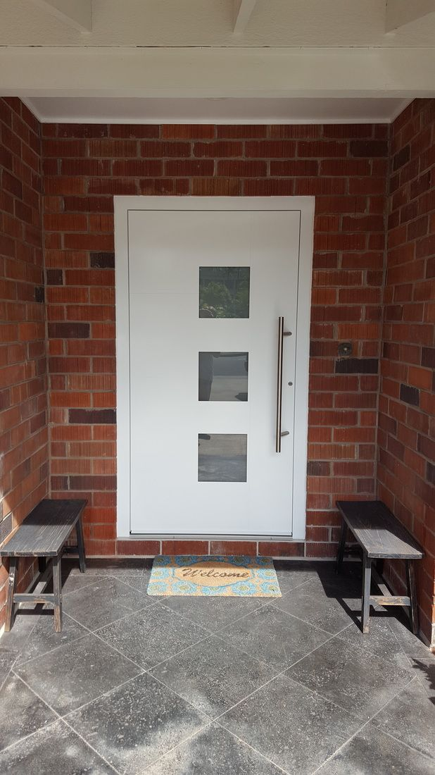 Before and After pictures of modern entry doors. See how a Groke entry door changes & 35 best Modern Entry Door images on Pinterest | Entrance doors ...
