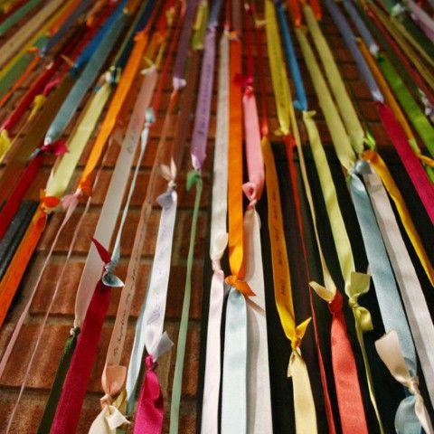 Cortina artesanal de material reciclado 013
