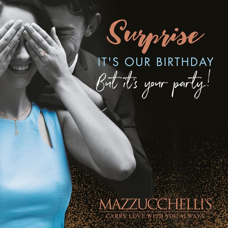We're having a party and you're our guest of honour! Join the festivities & help us toast to 114 years of celebrating life's special moments with exclusive birthday offers and new surprises in-store each week! Because it may be our Birthday, but it's your party.  #mazzucchellis #jeweller #jewellery #mazzucchellisjeweller #diamonds #diamond #diamondjewellery #diamondring #diamondnecklace #surprise #birthday #celebration #party #gift #giftidea #giftsforhim #giftsforher