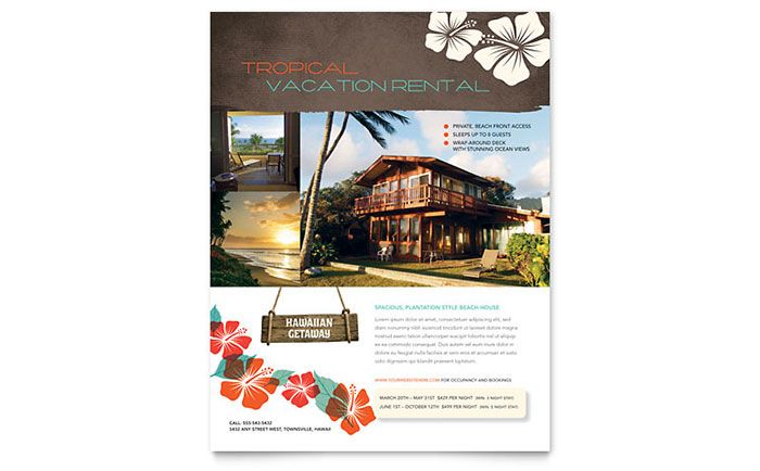 Vacation Rental Flyer Template Design By Stocklayouts  Projects