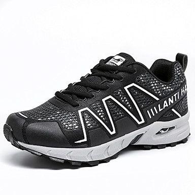 Черный+/+Синий+/+Серый-Мужской-Для+прогулок+/+На+каждый+день+/+Для+занятий+спортом-Тюль+/+Дерматин-На+плоской+подошве-Удобная+обувь+/+С+–+RUB+p.+2+294,36