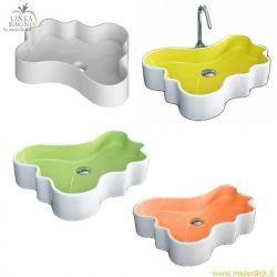 Lavabo da appoggio mini Splash bicolore