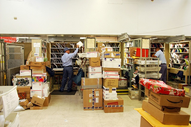 UNITED STATES POSTAL SERVICE CHRISTMAS PARCELS. This is what a post office looks like on the inside.