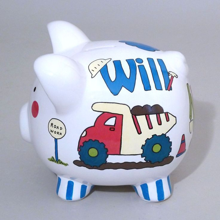73 best this little piggy images on pinterest piggy banks hand painted and baby gifts - Extra large ceramic piggy bank ...