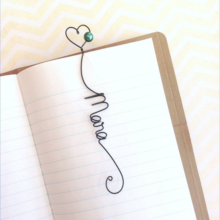 Unique Personalized Bookmark, Unique Wedding Favor, Bridal Shower Gift, Personalised Heart Bookmark with Glass Pearl Bead