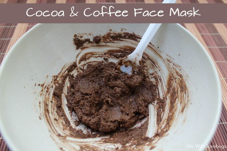 DIY Cocoa and Coffee Face Mask: Tighten pores, removes excess oil, reduces puffiness, and to adds moisture to your skin!