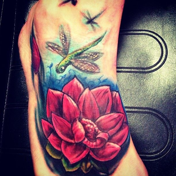 foot flower tattoo cover up by big gus amazing artist big gus pinterest. Black Bedroom Furniture Sets. Home Design Ideas