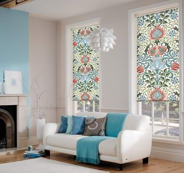 Get beautiful roller blinds throughout. We'll need to plan colour schemes in advance though. Creatively Different Roller Blinds