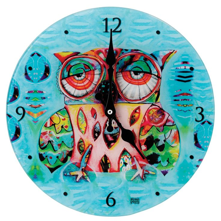 D117 Owl Clock (pack 4)- The Cat and Owl Collection designed by Michelle Allen is full of vibrant colours alongside quirky and eye-catching designs #bold #AllenDesign #witty