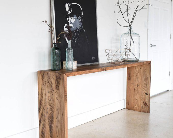 Console Table with Lower Shelf / Reclaimed Wood Sofa Table