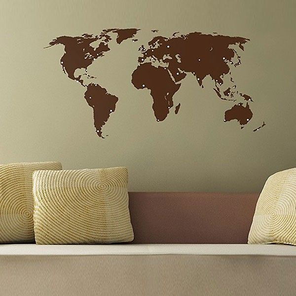 70 best gifts for globetrotters images on pinterest cork corks small world map wall sticker small map wall decor gumiabroncs Choice Image