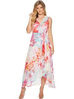 3cbbb561ae9f9 Calvin Klein V-Neck Floral High-Low Maxi CD8H635J | Dresses for mom ...