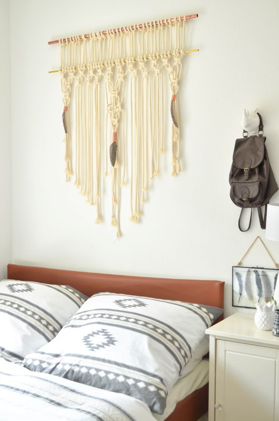 54 best makramee images on pinterest macrame wall hangings crafts and home - Makramee wandbehang ...