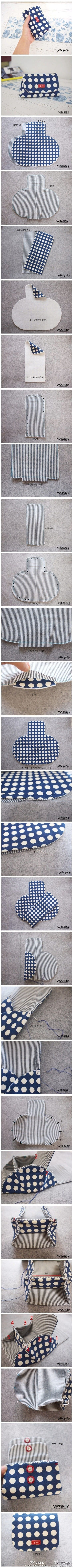 Cute small clutch with two compartments..