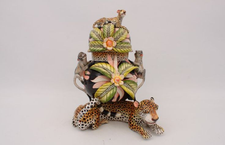 Monkey and Leopard Tureen