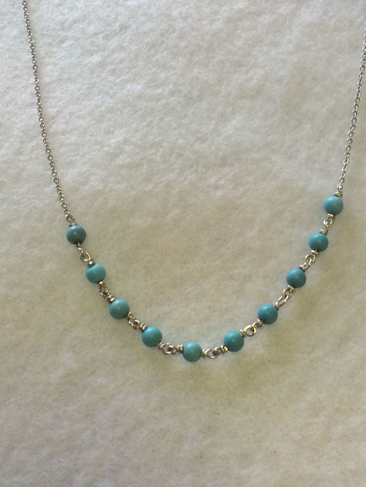 Sterling silver and turquoise necklace.  www.jewelrybysaveria.com