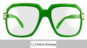 Telly Big Square Clear Lens Glasses - 364 Green