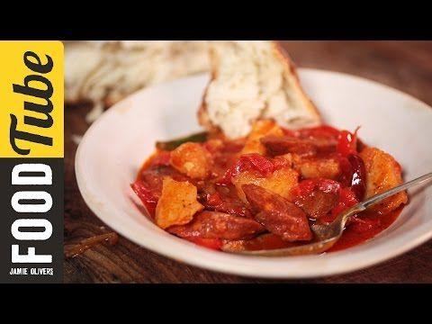 Jamie Oliver Tomato Salad with Chorizo - YouTube