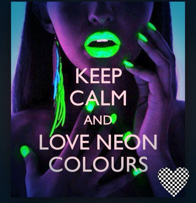 Glow In The Dark Makeup And Nails Keep Calm Keep Calm Calm