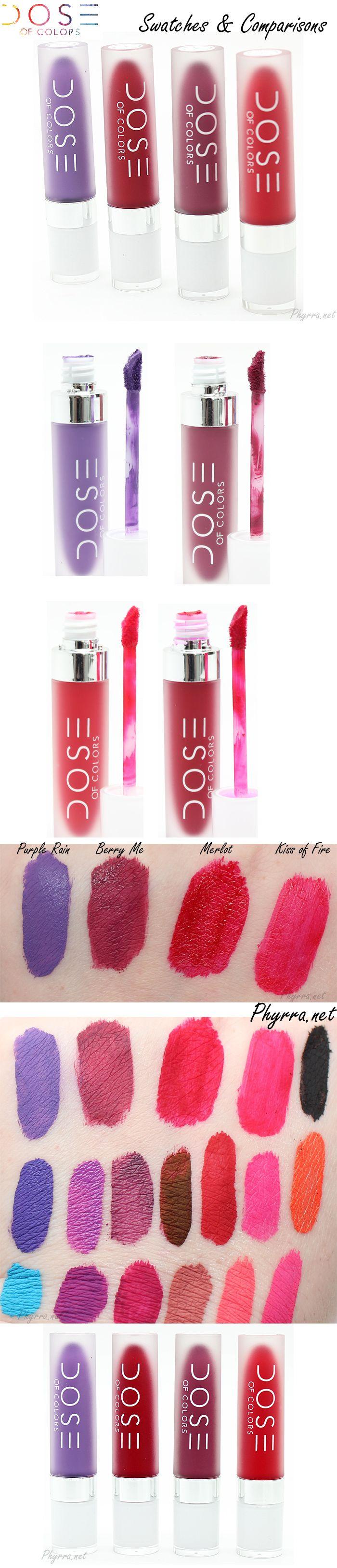 Lipstick color comparison