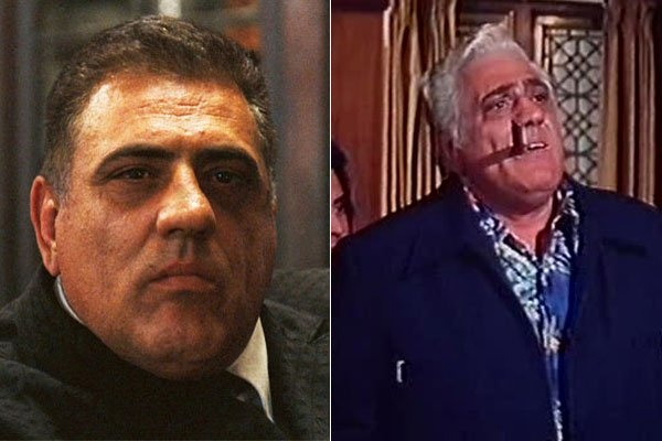 """Lenny Montana played a slow-witted but ruthless killer in The Godfather. A former pro wrestler, the 6'6"""", 320-pound Montana parlayed his acting debut in """"The Godfather"""" into a career that included roles in """"The Jerk,"""" """"Matilda"""" and """"Magnum P.I."""" He died in Italy in 1992 of a heart attack at the age of 66. --Xfinity Entertainment Programmers"""