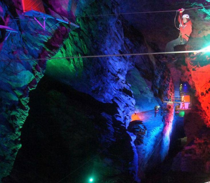 Zip World Caverns - The world's largest underground zip line - Snowdonia