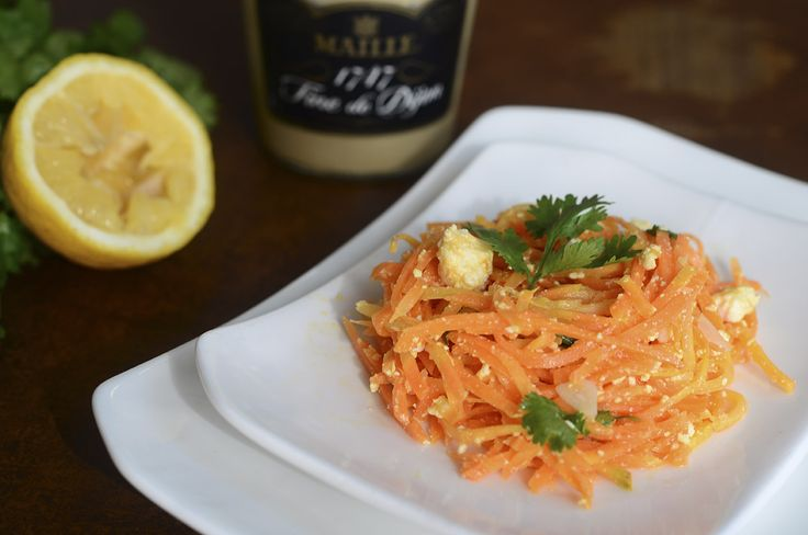 Морковный салат с брынзой