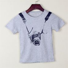Gray Children t shirts Clothes Cotton Boys T Shirts Camera Style t-shirts Kids Short Sleeve Baby Children's Clothing //Price: $US $2.19 & FREE Shipping //     #fashion