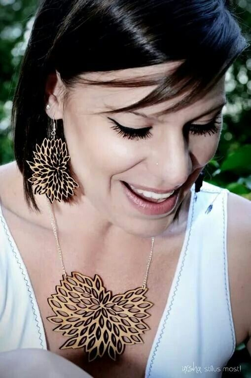 Natural wooden plant jewelry by ursha. BIO collection. www.facebook.com/urshastylenow