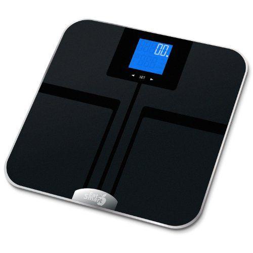 EatSmart Precision GetFit Digital Body Fat Scale w/ 400 lb. Capacity & Auto Recognition Technology $79.95