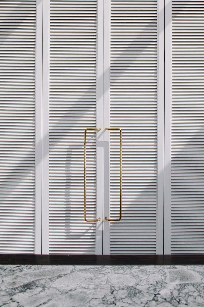 Extra long brass door handles