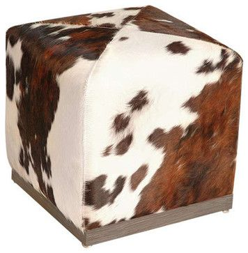 Cube Ottoman In Pony - midcentury - Ottomans And Cubes - Advanced Interior Designs