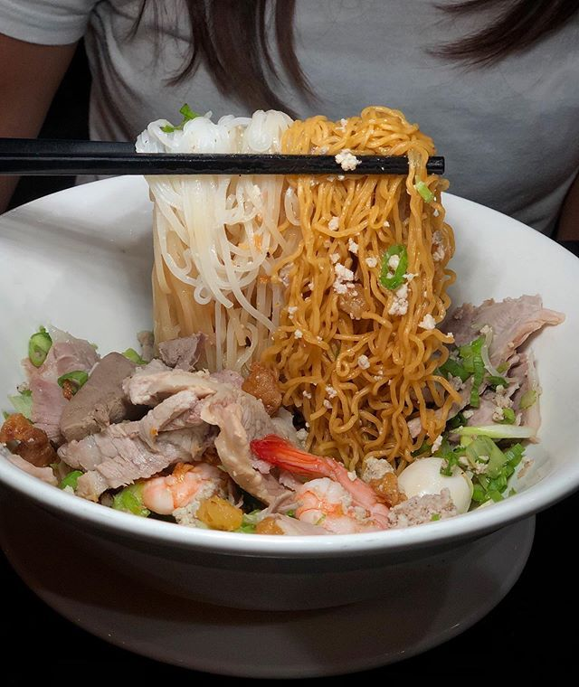 The Noodles Both Rice Egg At Grandpaskitchen Drynoodles168 In Garden Grove Are Amazing This Dry Phnom Penh Version Is Just One Eat Food Food Noodles Lover