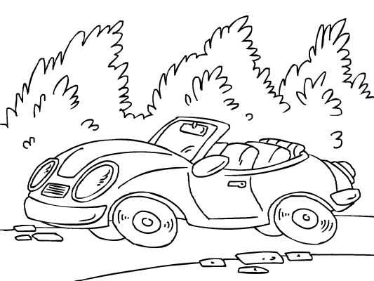 A Cool Convertible Sports Car Coloring Page Lots More Free Pages At